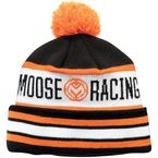 Black/White/Orange Drift Knit Beanie - 2501-2606