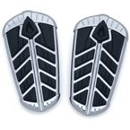 Chrome Spear Passenger Floorboard Inserts - 5656