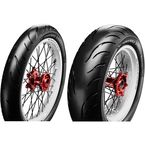 Front/Rear Cobra Chrome Blackwall 130/60VR23 Blackwall Tire - 4120218