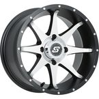 Front/Rear Black Machined Storm 12 x 7 Wheel  - A7627011-52S