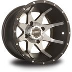 Rear Black Machined Storm 12 x 7 Wheel  - 570-1161