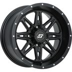 Front/Rear Black Badlands15x7 Wheel - 570-1193