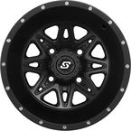 Front/Rear Black Badlands 14 x 7 12mm Stud Wheel - 570-1189