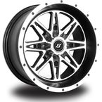 Front/Rear Machined Black Badlands 14 x 7 Wheel - 570-1210