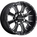 Front/Rear Machined Black Raceline Mamba 12 x 7 Wheel - 570-1504