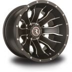 Front/Rear Machined Black Raceline Mamba 12 x 7 Wheel - 570-1503