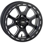 Front/Rear Matte Black Tsunami 14x7 Simulated Bead Lock Wheel - 1422075727B