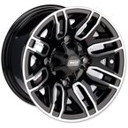 Front Gloss Black 12x7 Wheel  - 0230-0871
