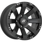 Front/Rear Spyder Black 12x7 Wheel - 570-1142