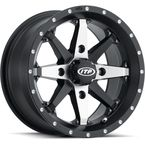 Matte Black Cyclone 14x7 Wheel - 14223057278