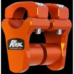KTM Orange 1 3/4 in. Pivoting handlebar Risers for 1 1/8 in. Handlebars - 3R-P2PPLO