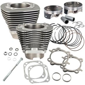 S&S Cycle Stone Gray 117 in. Big Bore Cylinder and Piston Kit - 910-0474