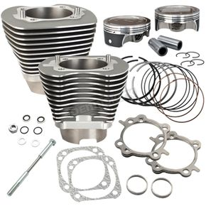 S&S Cycle Stone Gray 124 in. Big Bore Cylinder and Piston Kit - 910-0469