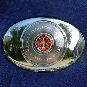 Motordog69 ACM 1.8  Air Cleaner Coin Mount With Fire/Rescue 2-Sided Coin - JMPC-ACM-FRESCUE