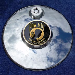 Motordog69 Tank 1.8  Fuel Door Coin Mount With POW*MIA 2-Sided Coin - JMPC-FD-POW-MIA