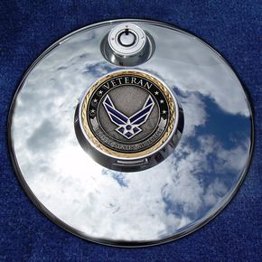 Motordog69 Tank 1.8  Fuel Door Coin Mount With Veteran US Air Force 2-Sided Coin - JMPC-FD-VAIRFORC
