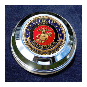 Motordog69 FCM 1.8  Fuel Cap Coin Mount With Veteran US Marine Corps 2-Sided Coin - JMPC-FC-VMARINE