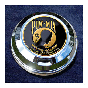 Motordog69 FCM 1.8  Fuel Cap Coin Mount With POW*MIA 2-Sided Coin - JMPC-FC-POW-MIA