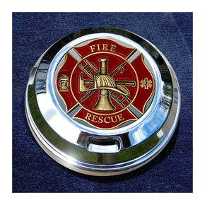 Motordog69 FCM 1.8  Fuel Cap Coin Mount With Fire/Rescue 2-Sided Coin - JMPC-FC-FRESCUE