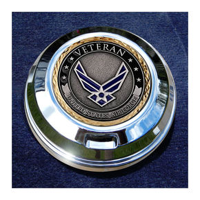 Motordog69 FCM 1.8  Fuel Cap Coin Mount With Veteran US Air Force 2-Sided Coin - JMPC-FC-VAIRFORC