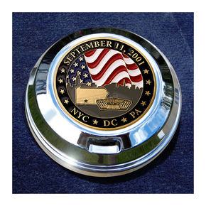 Motordog69 FCM 1.8  Fuel Cap Coin Mount With September 11th 2-Sided Coin - JMPC-FC-SEPT11