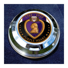 Motordog69 FCM 1.8  Fuel Cap Coin Mount With Engraveable Purple Heart 2-Sided Coin - JMPC-FC-PURPLEHE