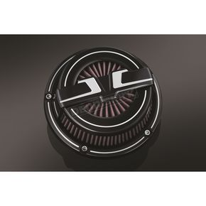 Bahn Black/Chrome Tuxedo Air Cleaner Kit - 9578
