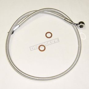 Magnum Custom Sterling Chromite II Designer Series ABS Upper Brake Line - 90°, 10mm, 20 in. - AS37220