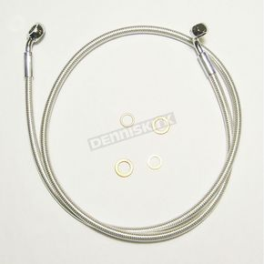 Magnum Custom Sterling Chromite II E-Z Align 58 in. Alternative Length Single Disc Non-ABS Front Brake Line - 36858SW