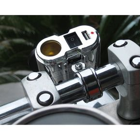 Eklipes Cobra Chrome Mount USB Charging System - EK1-110