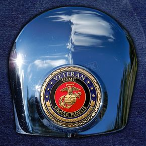 Motordog69 Crown 1.8  Horn Cover Attachment With Veteran US Marine Corps 2-Sided Coin - JMPC-HC-VMARINE