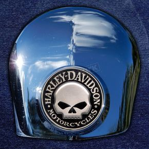 Motordog69 Crown 1.8  Horn Cover Attachment With Harley Skull 2-Sided Coin - JMPC-HC-HSKULL