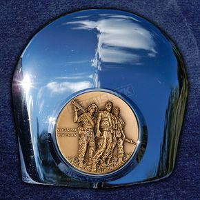 Motordog69 Crown 1.8  Horn Cover Attachment With Vietnam Veteran 2-Sided Coin - JMPC-HC-VVENG