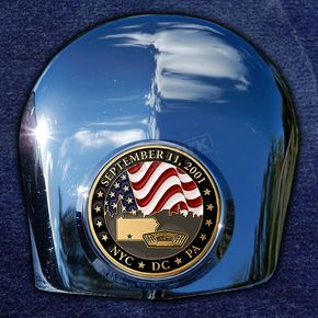 Motordog69 Crown 1.8  Horn Cover Attachment With September 11th 2-Sided Coin - JMPC-HC-SEPT11