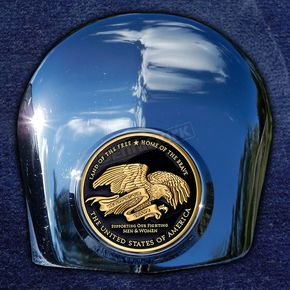 Motordog69 Crown 1.8  Horn Cover Attachment With Support Our Troops 2-Sided Coin - JMPC-HC-THANKTRO