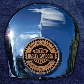 Motordog69 Crown 1.8  Horn Cover Attachment With Harley Racer 2-Sided Coin - JMPC-HC-HRACER