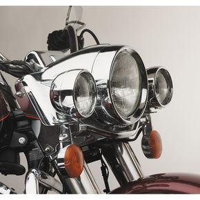 Custom Chrome 4 1/2 in . Frenched Passing Lamp Trim Ring - 15547