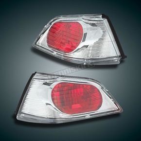 Show Chrome Clear/Red Trunk Lights - 52-776
