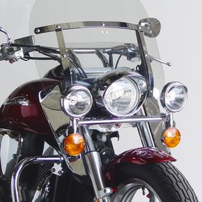 National Cycle 14 3/4 in. Chrome Heavy Duty Windshield Lowers - N765