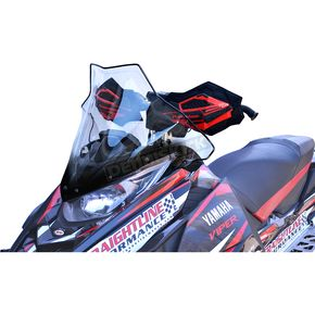 PowerMadd Cobra Clear w/Black 17 in. Mid Windshield - 14530