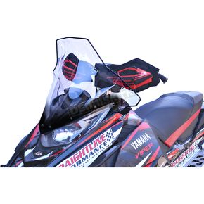 PowerMadd Cobra Clear w/Black 19 in. Tall Windshield - 14540
