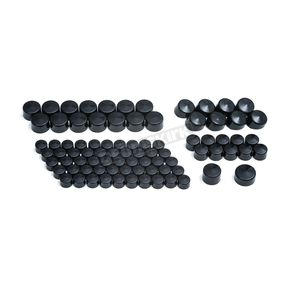 Kuryakyn Gloss Black Kool Kaps Engine Bolt Cover Kit - 2452