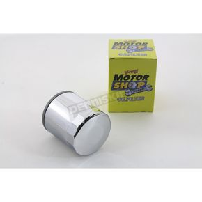 Motor Shop Chrome Oil Filter - 40-0233
