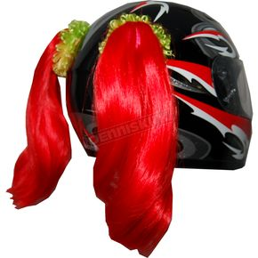 Helmets Inc Red Helmet Pigtails - PT104