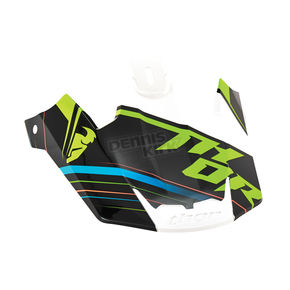 Thor Fluorescent Green Replacement Visor Kit for Verge Stack Helmet  - 0132-0835