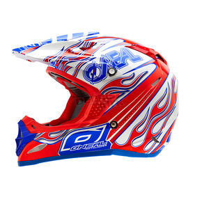 O'Neal Red/Blue 5 Series Blazer Helmet - 0614