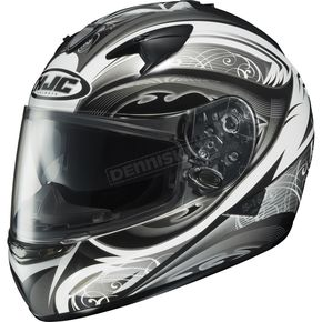 HJC IS-16 Black/White/Silver Lash Helmet - 574-956