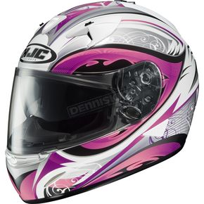 HJC IS-16 White/Pink/Black Lash Helmet - 574-986