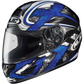 HJC Black/Dark Silver/Blue Shock CL-16 Helmet - 914-926