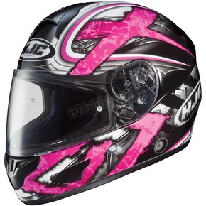 HJC Black/Dark Silver/Pink Shock CL-16 Helmet - 914-986